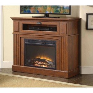 Brown Media Fireplace TV Stand UNDER 300