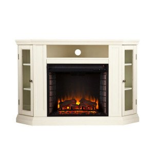 Southern Enterprises Claremont Convertible Media Ivory Electric Fireplace